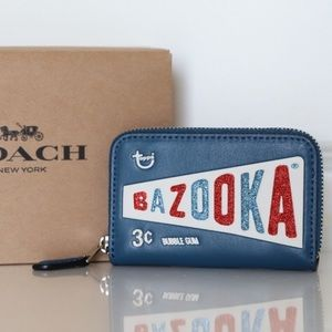Ltd. Coach Bazooka Gum ID/Coin Zip Wallet